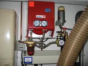 Cogeneration unit oil pump